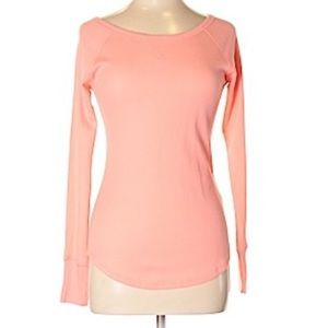 PINK VS Salmon Color Thermal Long Sleeve | SZ S